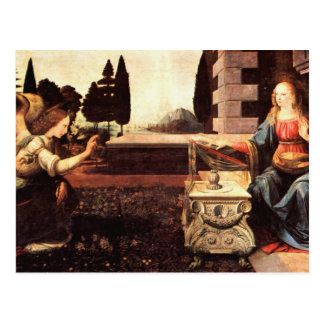 Da Vinci, Leonardo - The Annunciation Postcard