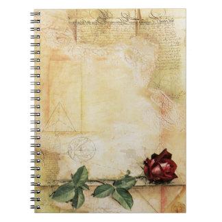 Da Vinci Letter Rose Notebook