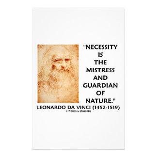 da Vinci Necessity Mistress Guardian Of Nature Stationery Design