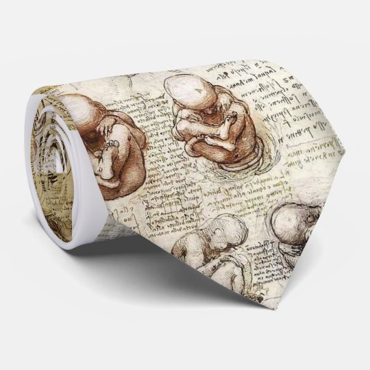 Da Vinci Notebook Foetus Drawings Tie