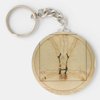 da Vinci Skydiving Key Chain