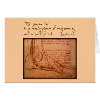 "da Vinci: ""The human foot is..."" Note Card"