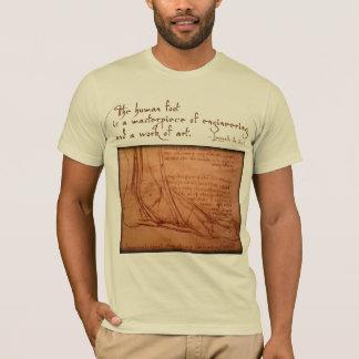 "da Vinci: ""The human foot is..."" T-Shirt"