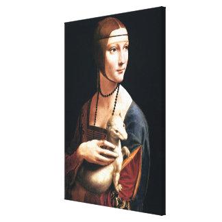 Da Vinci - The Lady with the Ermine Canvas Print