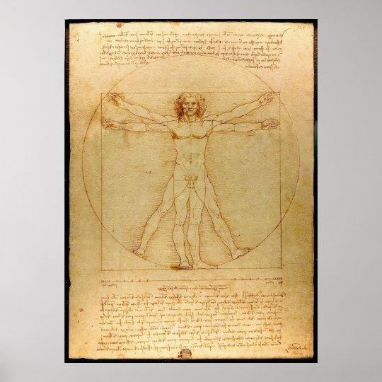 Da Vinci Vitruve Luc Viatour Poster