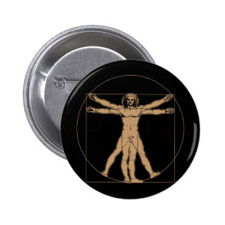 Da Vinci Vitruvian Man Button