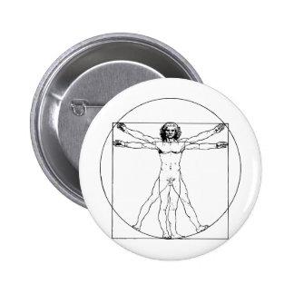 Da Vinci Vitruvian Man Button