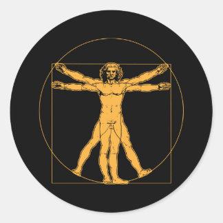 Da Vinci Vitruvian Man Classic Round Sticker