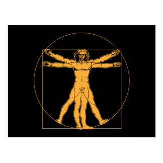 Da Vinci Vitruvian Man Postcard