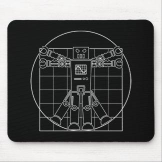 Da Vinci Vitruvian Robot Mouse Pads
