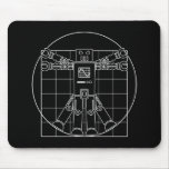 Da Vinci Vitruvian Robot Mousepad