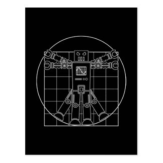Da Vinci Vitruvian Robot Post Card