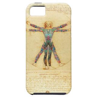 Da Vinci Vitruvian tattooed man iPhone 5 Case