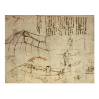 Da Vinci's Flying Contraption Postcard