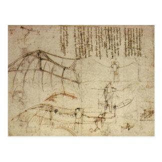 Da Vinci's Flying Contraption Postcard