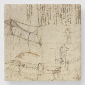 Da Vinci's Flying Contraption Stone Coaster