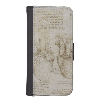 Da Vinci's Human Heart Anatomy iPhone SE/5/5s Wallet Case
