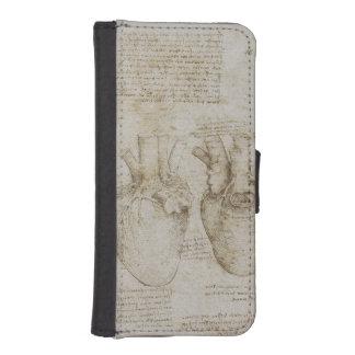 Da Vinci's Human Heart Anatomy Phone Wallets