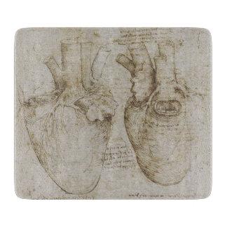 Da Vinci's Human Heart Anatomy Sketches Cutting Boards