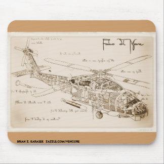 Da Vinci's MH-60 Seahawk Mousepad
