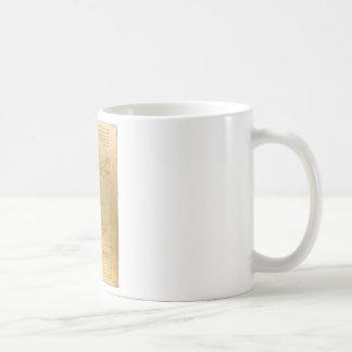 Da Vinci's Vitruvian Man Basic White Mug