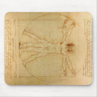Da Vinci's Vitruvian Man Mouse Mat