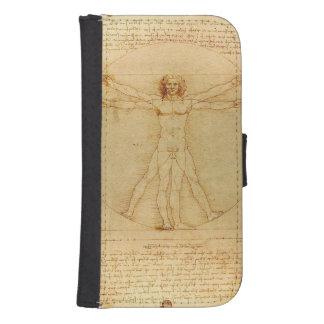 Da Vinci's Vitruvian Man Samsung S4 Wallet Case