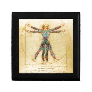 Da Vinci's Vitruvian man with tattoos Gift Box