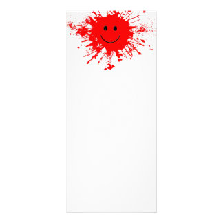 dab-93947 BRIGHT RED HAPPY FACE SPLATTERS dab, PAI Rack Card Template