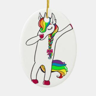 Dab unicorn christmas ornament