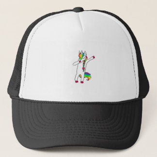 Dab unicorn trucker hat