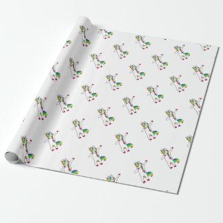 Dab unicorn wrapping paper