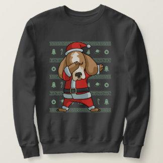 Dabbing Beagle T-Shirt Funny Christmas Dab Dance