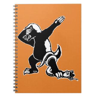 Dabbing Honey badger Spiral Notebook