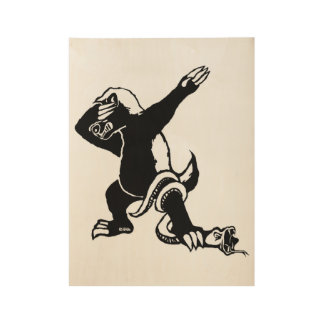 Dabbing Honey badger Wood Poster