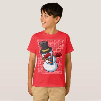 Dabbing Snowman Christmas Dab T-Shirt
