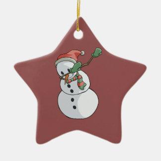 Dabbing Snowman Funny Christmas Home Decor Christmas Ornament