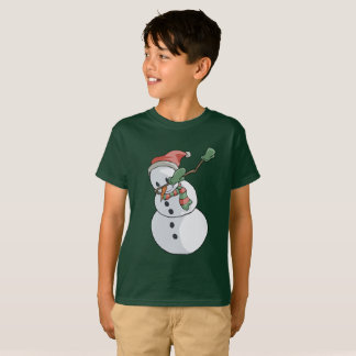 Dabbing Snowman T-Shirt Funny Christmas