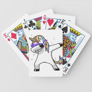 Dabbing Unicorn Bicycle Playing Cards