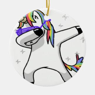 Dabbing Unicorn Christmas Ornament