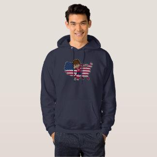 Dabbing USA Soccer Player Dab American Flag Hoodie