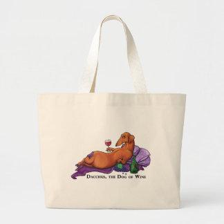 Dacchus Dog of Wine Large Tote Bag