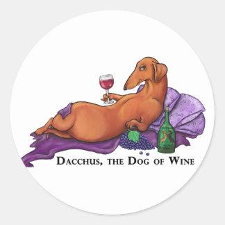 Dacchus Dog of Wine Round Sticker