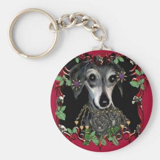 Dachshound Weiner Dog Basic Round Button Key Ring