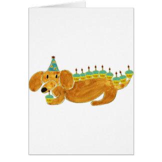 Dachshund 10 Cupcakes Card