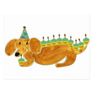 Dachshund 10 Cupcakes Post Cards
