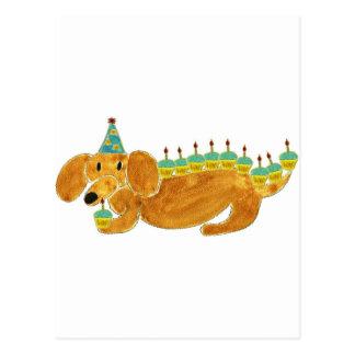 Dachshund 10 Cupcakes Postcard