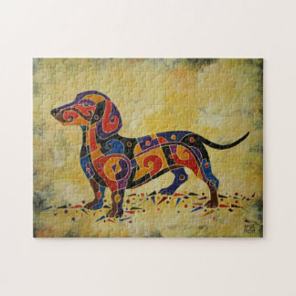 Dachshund 11x14 Art Puzzle with Gift Box