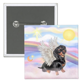 Dachshund 15 Cm Square Badge