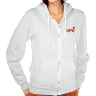 Dachshund 2 hooded pullovers